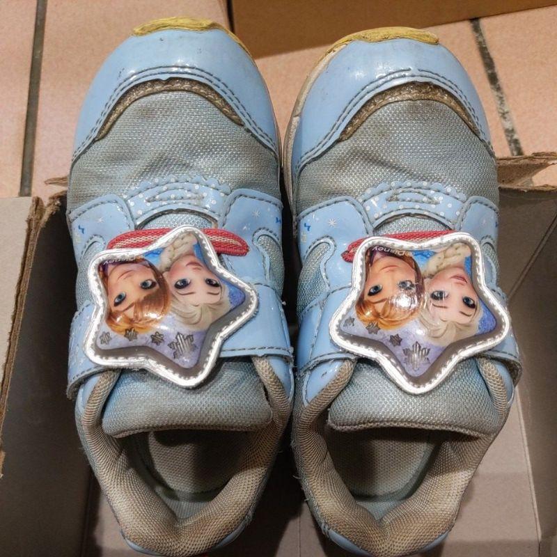 二手童鞋 moonstar 冰雪奇緣電燈運動鞋 18