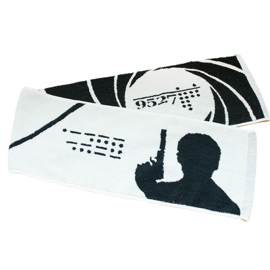 【暗光鳥設計】9527 〔黑白〕純棉運動毛巾