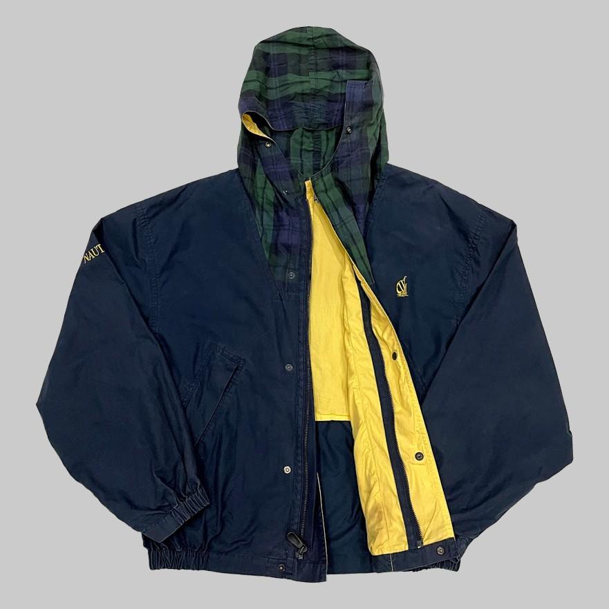 /有關古著/NAUTICA 格紋 防風外套 連帽外套