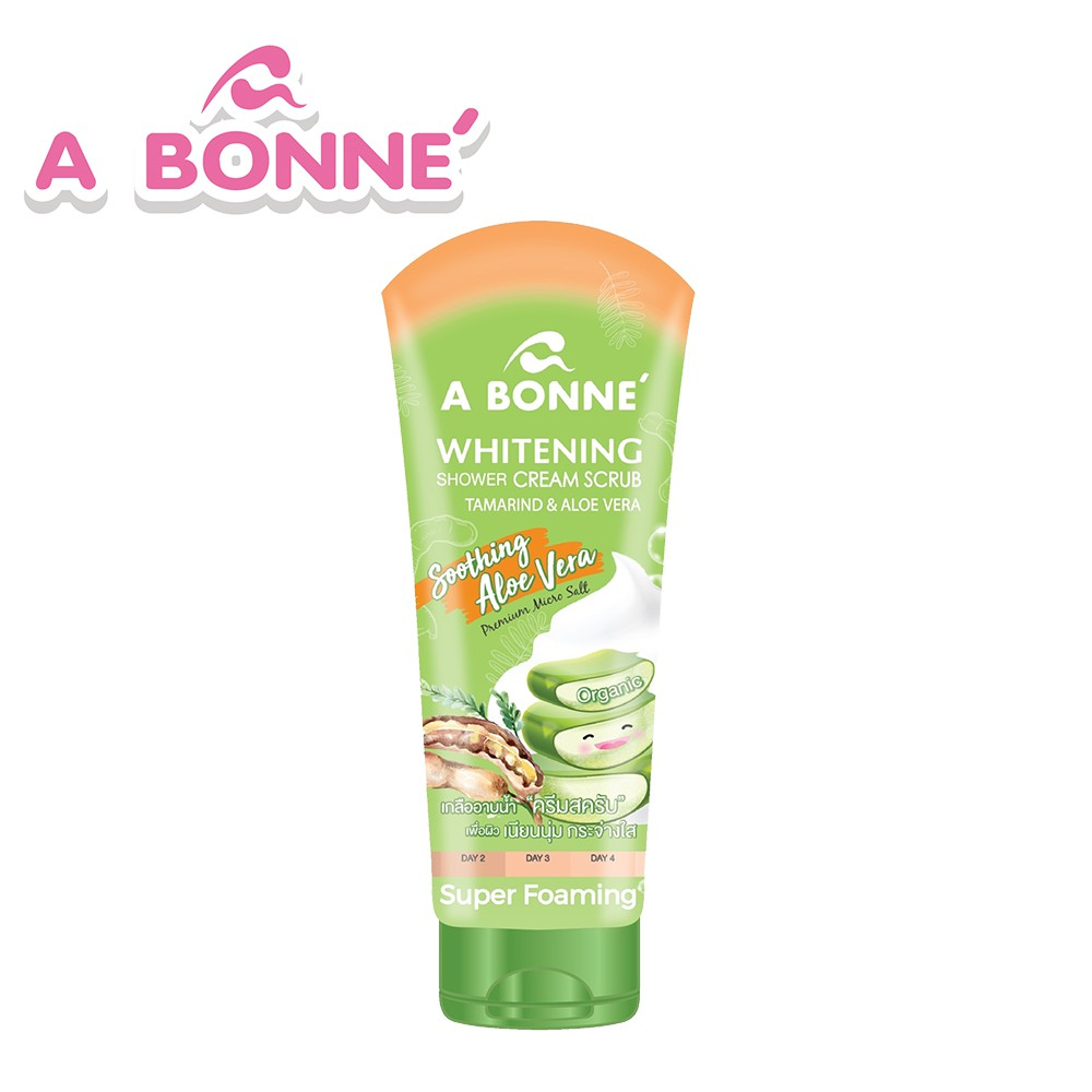 【A BONNE'】蘆薈&羅望子淨白身體去角質沐浴鹽精華乳