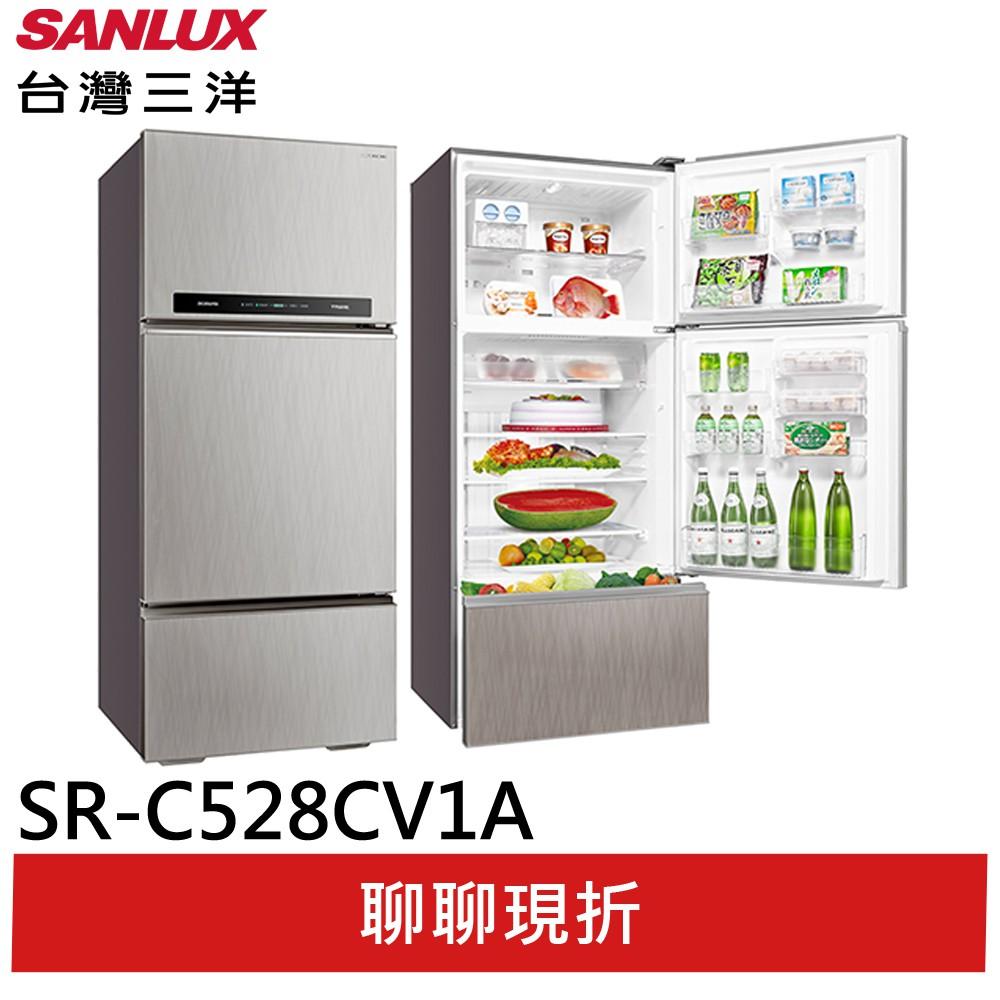 【台灣三洋】528L 1級變頻3門電冰箱 SR-C528CV1A(輸碼92折)