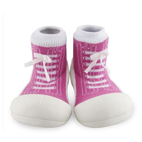 Attipas 快樂腳襪型學步鞋-律動紫