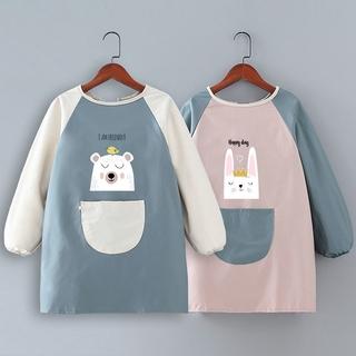 兒童防水防油長袖圍裙畫畫衣定製logo幼兒園中大童寶寶吃飯罩衣女