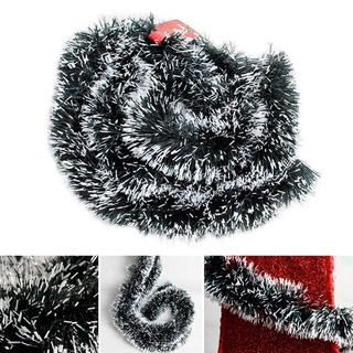 海成 X.Ph 200cm 多彩聖誕節裝飾條頂絲帶花環聖誕樹裝飾品白色深綠色甘蔗派對用品