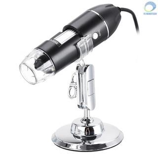 【飛行】數字顯微鏡 1600X USB 充電手持放大鏡內窺鏡相機 8 LED 兼容 Android 和 IOS 智能手機
