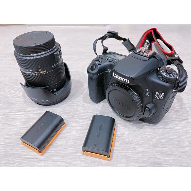 [二手極新]CANON 70D單眼相機 + SIGMA 17-50mm + B+W保護鏡