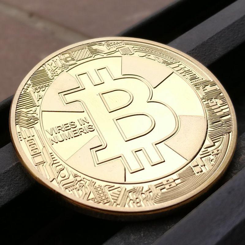 現貨2018紀念款 Bitcoin 精美美國BTB比特幣紀念章外國 鍍金 bitcoin