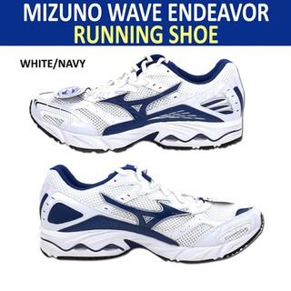 【全新已絕版】MIZUNO WAVE ENDEAVOR 寬楦 8KA-29625 慢跑鞋 白藍 US9 只賣1490元 臺中市