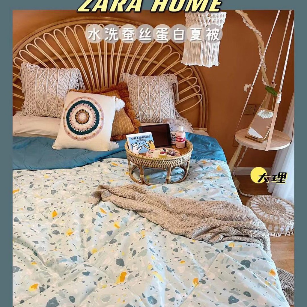 【Zara home夏被】☫ZARAHOME夏被微商新款夏涼被水洗莫代爾空調被2米機洗夏季薄被子