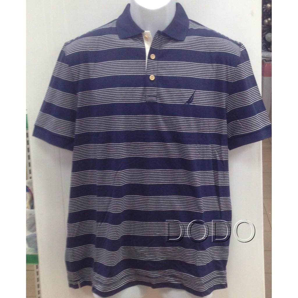 NAUTICA 男短袖條紋 POLO 衫