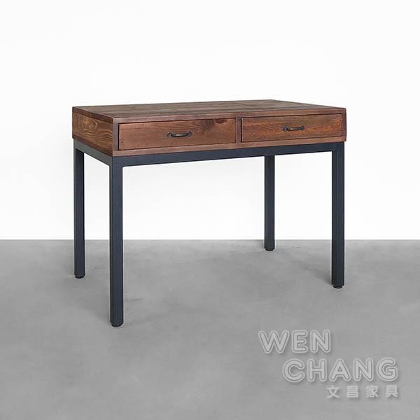 訂製品 仿舊色雙抽桌 書桌 CUA-018 文昌家具