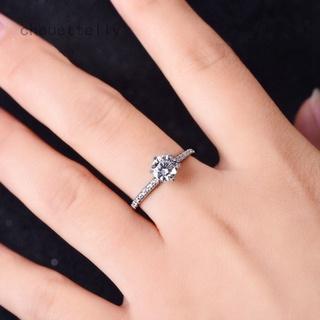 Chouettelly 925 純銀戒指 1ct 2ct 3ct 經典風格 Moissanite 戒指鑽石結婚派對週年紀
