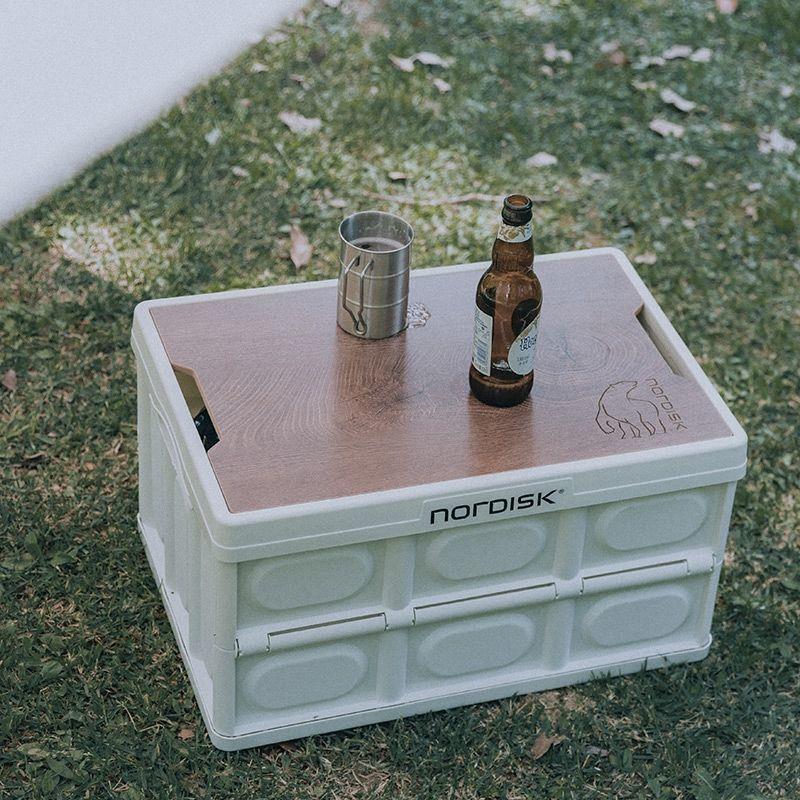 新款 NordISK大白熊收納箱戶外露營車用後備箱儲物箱摺疊整理野營箱子