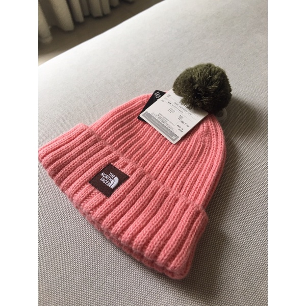日本購回 the north face 正品 日本製 嬰兒 baby 毛球 毛帽