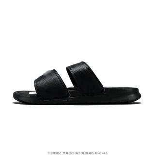莆田鞋忍者拖鞋 Benassi Swoosh 819717-010黑色运动拖鞋厂家货源