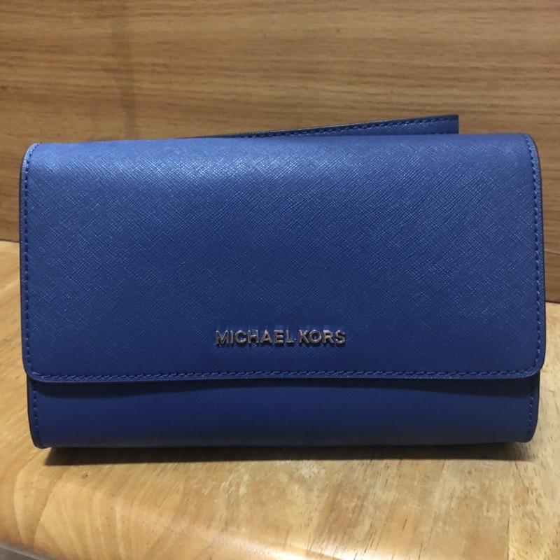 【MICHAEL KORS】藍色手拿包