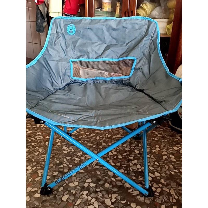 全新  露營椅  月亮椅  coleman  藍色  綠色