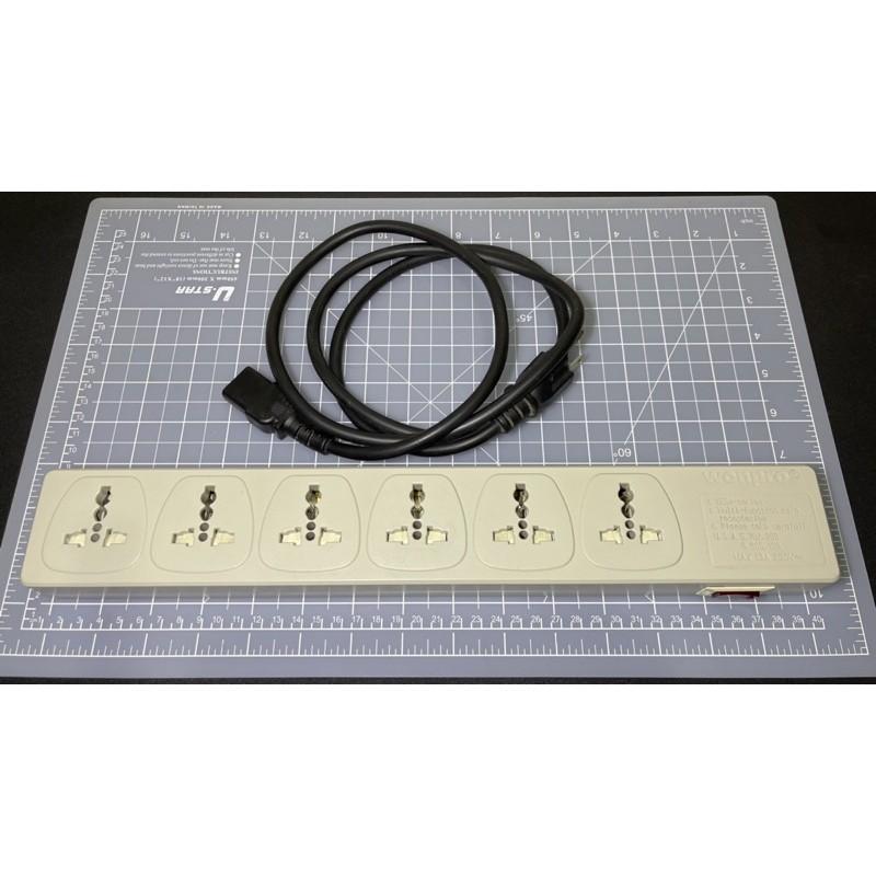 萬寶 WONPRO 6孔萬用延長線插座