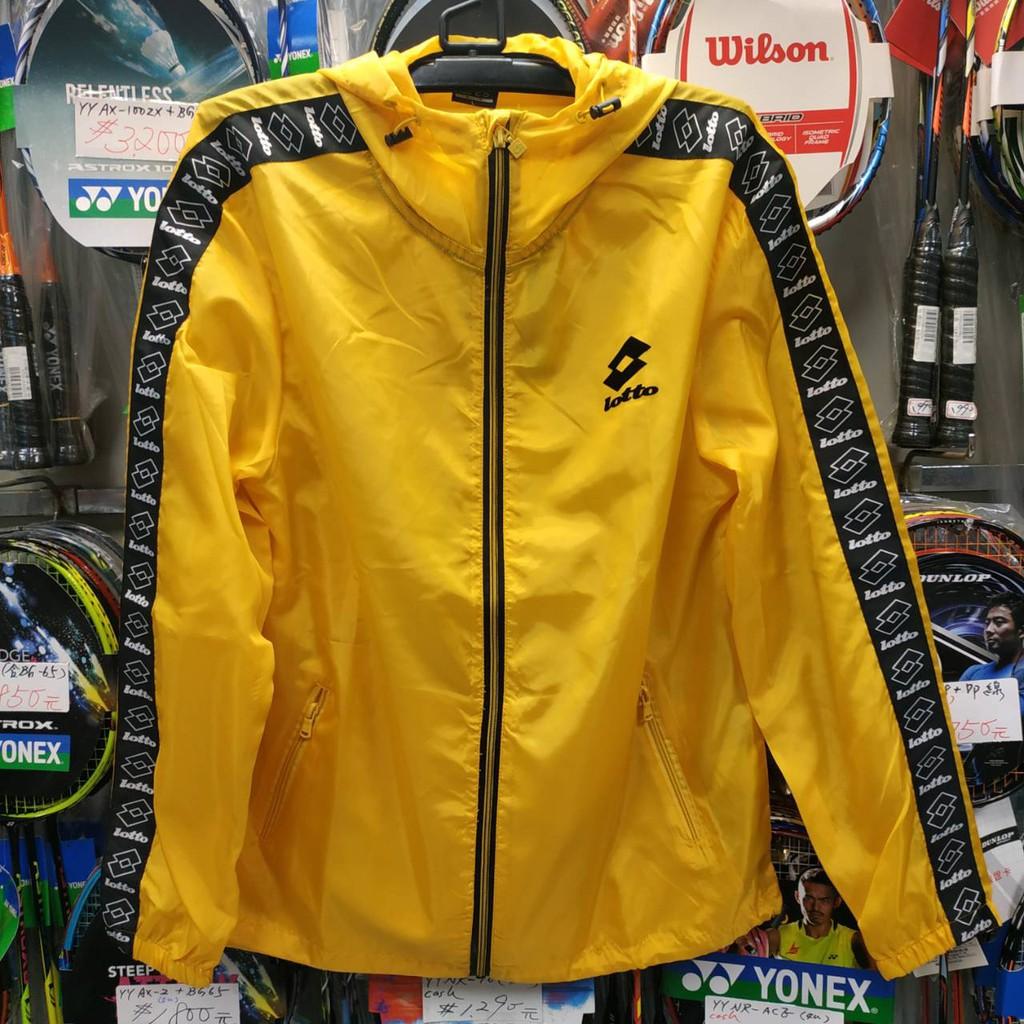 文瑞體育(自取可刷國旅卡)樂得 LOTTO 流行串標 防風 潑水 風衣 保溫 收納 外套 口袋衣 剩 黃 黑 2色 可選