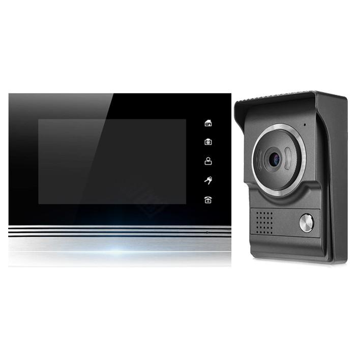 7吋 螢幕對講機 監視器 高清全彩對講機組 影像對講機 門鈴 門口機 防水防塵 拍照 錄影 支援電鎖開門 紅外線夜視