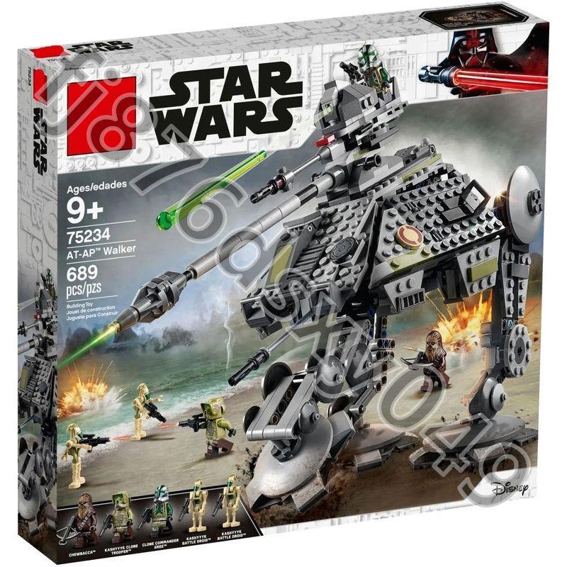 艾米💕兼容樂高 BELA博樂11424太空星球大戰全地形步行機75234拼裝小顆粒積木玩具 LEGO