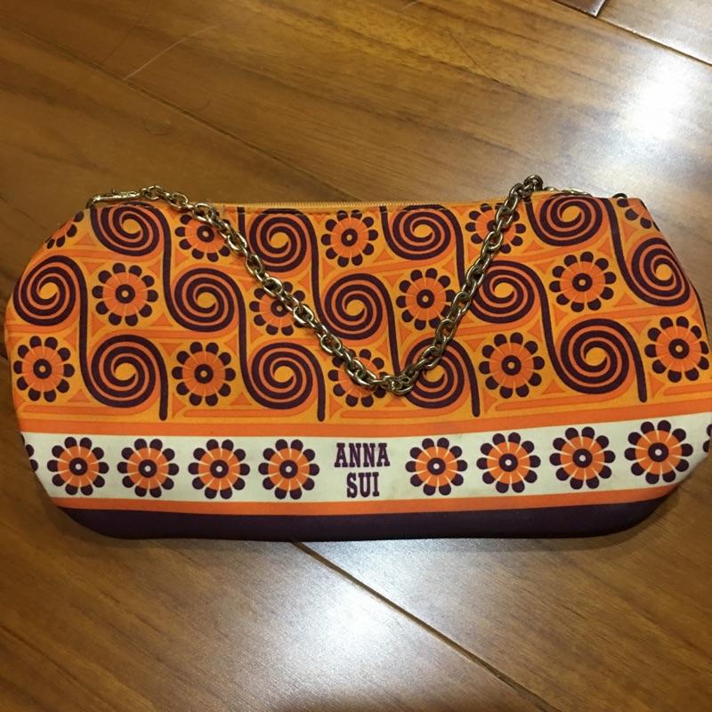 二手 Anna sui 普普風 安娜蘇 化妝包 手提包 萬用包 小包 限量