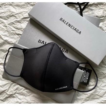 全新真品 Balenciaga 黑色 尼龍 白LOGO 時尚 口罩 (非醫療用) 649257 現貨