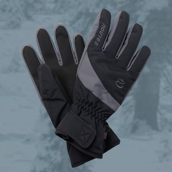 【Route8八號公路】KORUS PRIMALOFT(可觸控滑屏)防水保暖手套(黑)