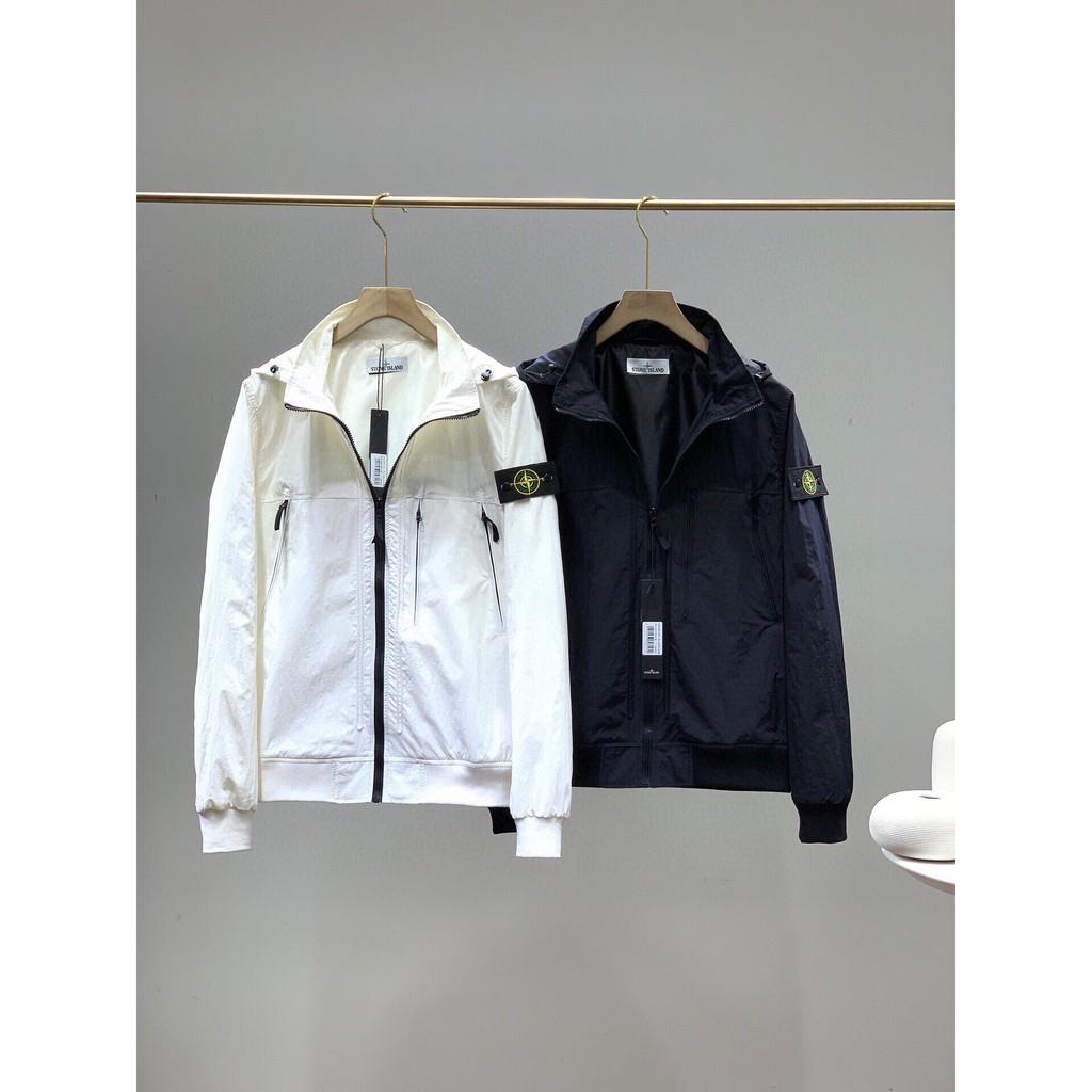 潮品 Stone island石頭島男士 機能防護者系列!秋季新款男士戶外運動防風防水 外套工裝夾克