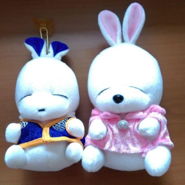 雙賤兔玩偶