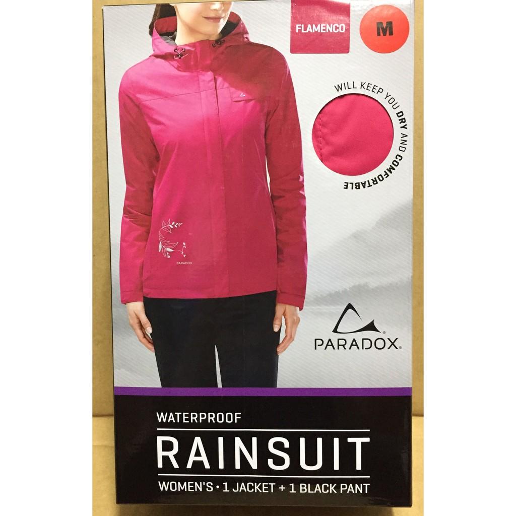 paradox 女雨衣組 兩件式 上衣加長褲 costco 代購 好市多 雨衣