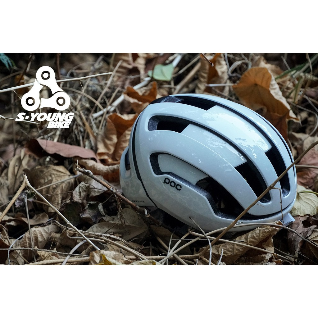 巡揚單車 -【POC】Omne Air WF Spin 寬版安全帽 亞洲版 S/M 亮光白 加強撞擊防護 提升舒適度