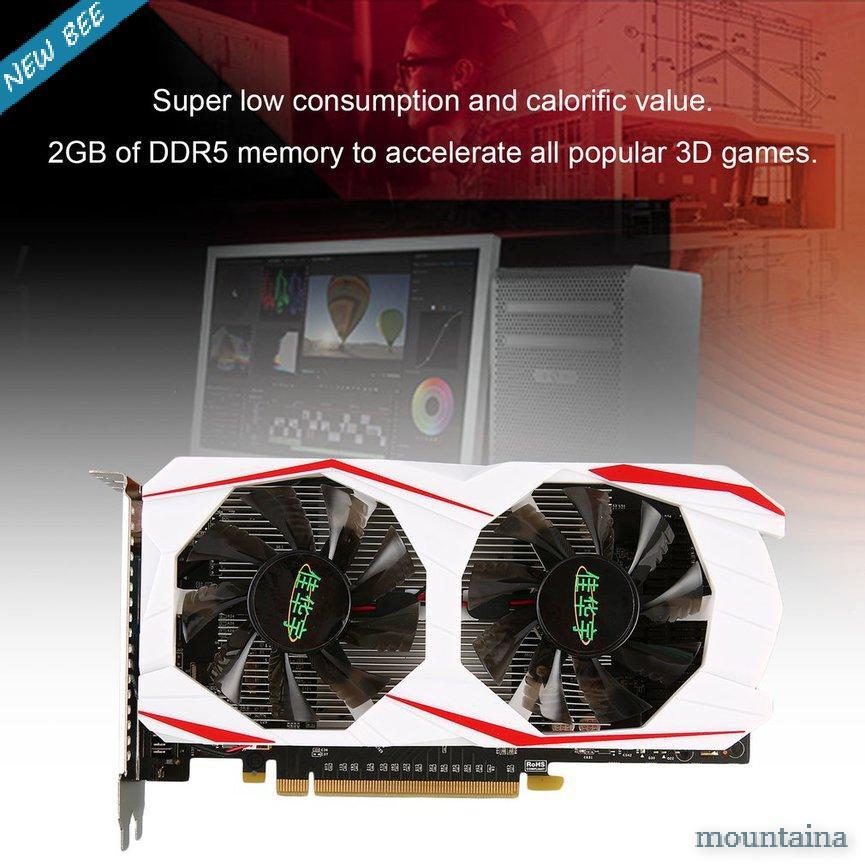 【 Jh 】適用於 Gtx 750ti 的 2gb Ddr5 128bit Pci-Express Vga / Dvi