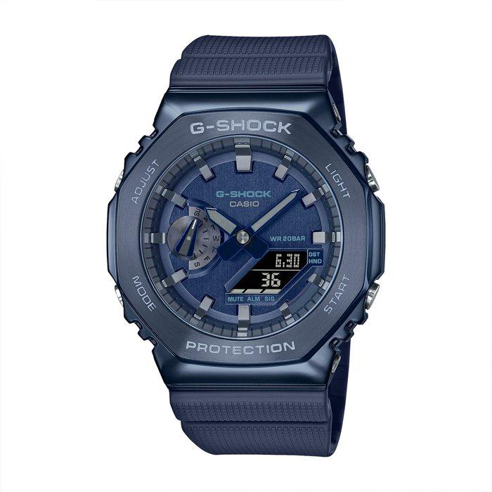 5Cgo 卡西歐 G-SHOCK GM-2100N-2A 金屬八角形錶殼手錶 藍 台灣 jIXu