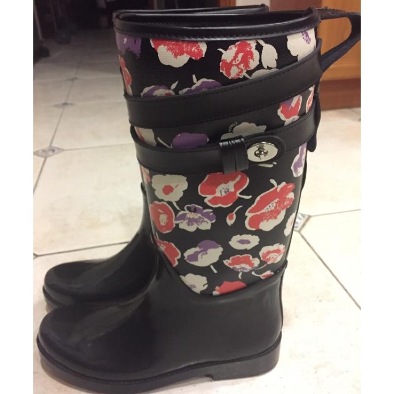 Coach 雨鞋 雨靴 女鞋 近全新 美國專櫃購回 附購買證明