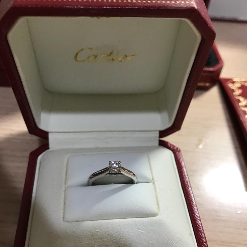 Cartier 0.23 E color 51號 1895系列 四爪 鑽戒