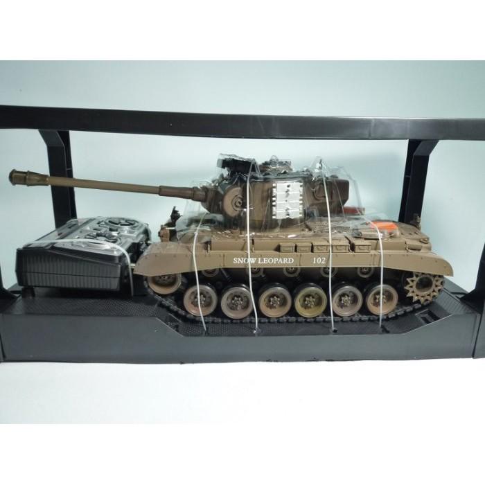 萬象遙控模型 1:20 SNOW LEOPARD遙控坦克-聲光戰車/可發射BB彈/砲管有後座力 (4)