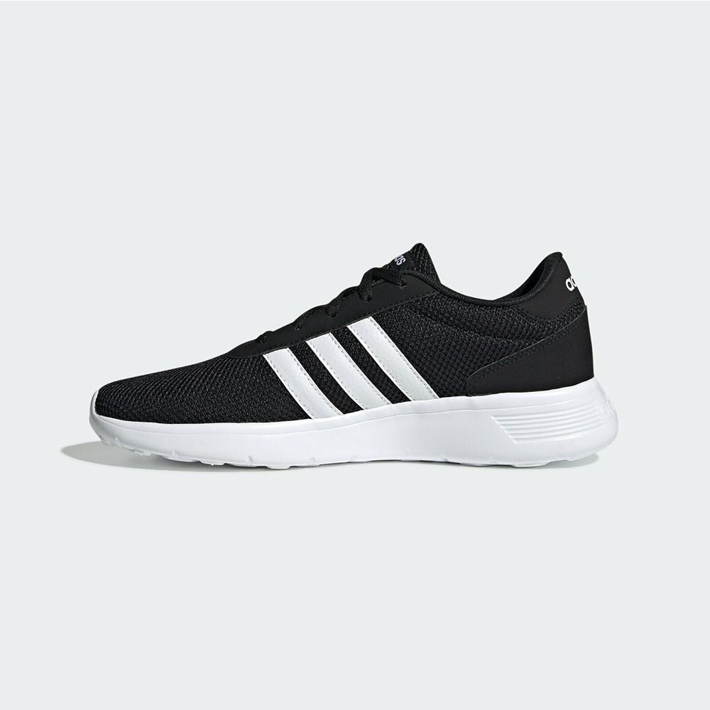Adidas Lite Racer 男款黑白色運動透氣輕量慢跑鞋-NO.EH1323