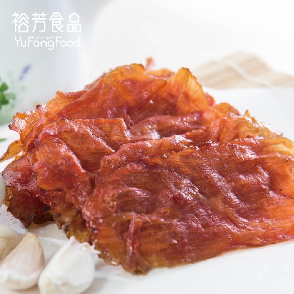 《裕芳食品》蒜味薄肉乾(買一送一)