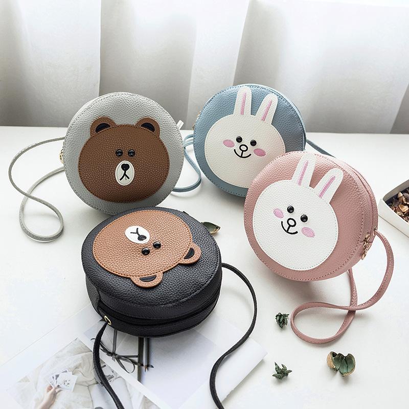 【免運】包包 日韓新款可愛兔子女包圓形包包手機小包單肩斜挎包 側背包