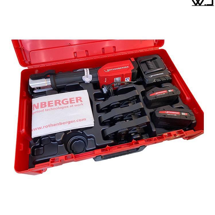 德國ASADA ROMAX 4000 水管壓接機 不鏽鋼管 大全配 付雙電一充 新款薄電池  18V【K.O】
