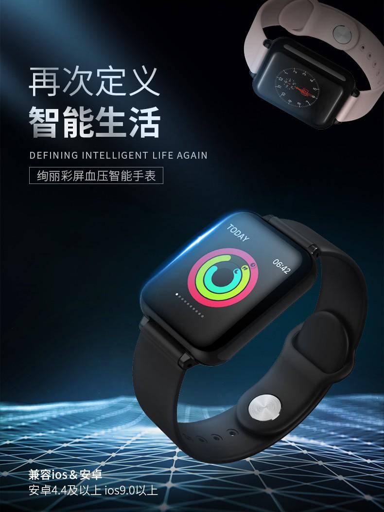 【❥台灣現貨秒發-支持信用卡分期】歐姆龍蘋果通用智慧手環手錶運動量血壓心率心電圖老年人防水華為