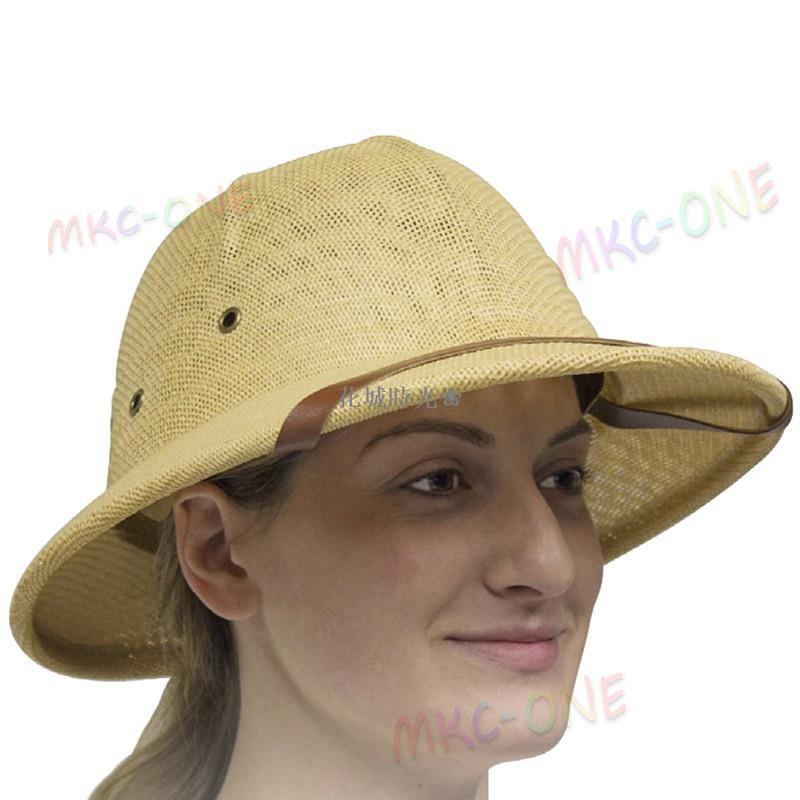 花城時光❀男女通用夏季馬術帽賽馬帽越南頭盔帽子安全帽防曬戶外遮陽草帽⊶⊷