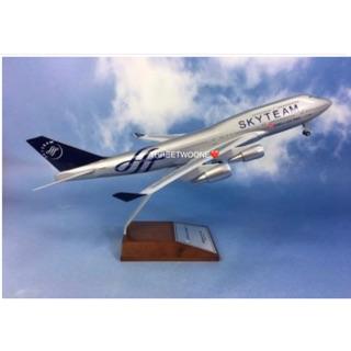 【全新免運】【飛機模型】華航_SKYTEAM_波音_B747-400_1/ 200_木座 桃園市