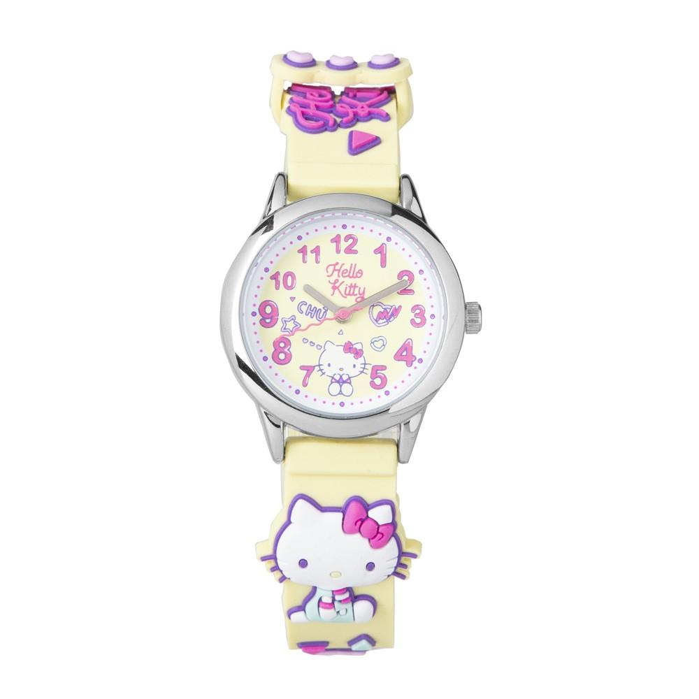 【HELLO KITTY】凱蒂貓 繽紛霓虹兒童手錶(黃 KT075LWYY)