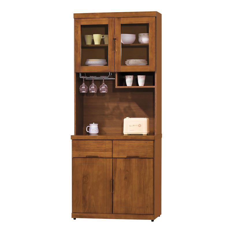 【HB385-02】凱西柚木色2.7尺餐櫃