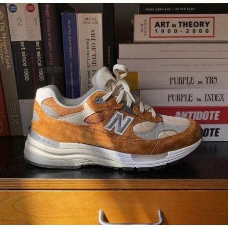 日韓正品 Packer x New Balance 992 棕橘色 D寬 運動鞋 M992PK1