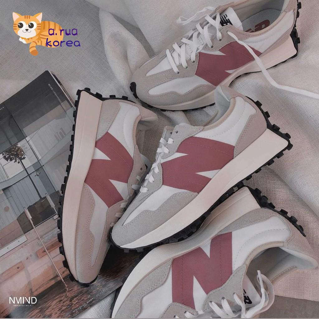 A.rua✈️韓國代購✈️NEW BALANCE 327 珊瑚紅 玫瑰粉 粉色 白粉 NB327 女鞋 WS327CD