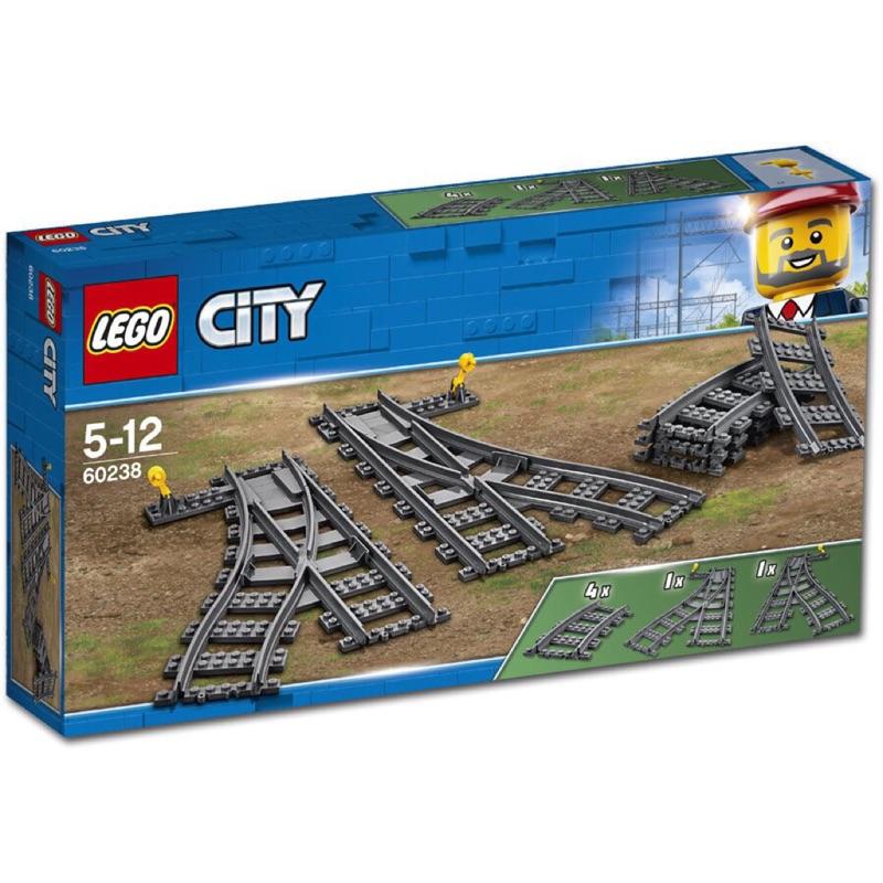 """  高雄 宅媽 樂高 積木   LEGO""""60238""""切換式軌道"""
