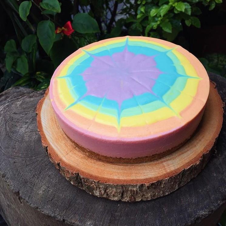 【MSM】彩虹生乳酪蛋糕 / 檸檬生乳酪蛋糕 / 蛋糕 / 生乳酪 / 檸檬 / 冰淇淋 / 彩虹